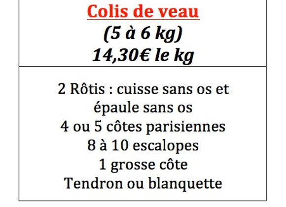 Colis de veau pour 5 à 6 kg
