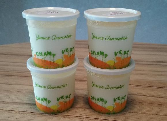 yaourts aromatisés citron/vanille par 4