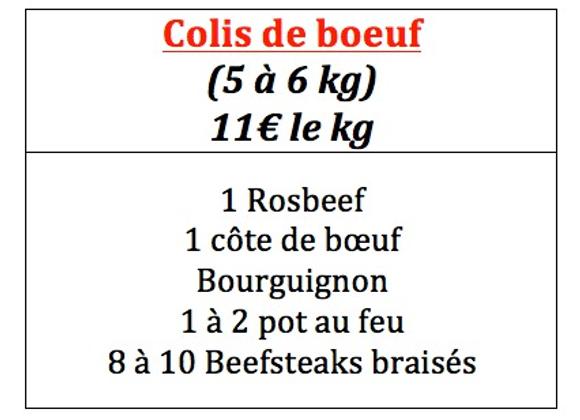 Colis de boeuf (5 à 6 kg)
