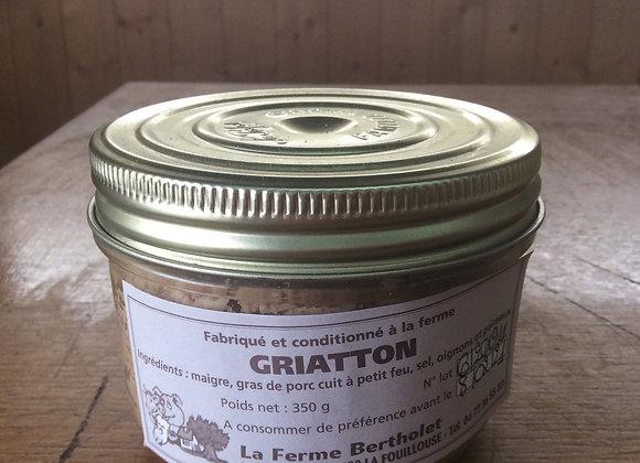 Bocaux de pâté de griatton (200 gr)
