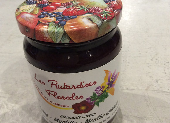 confiture coing/myrtille/menthe ananas