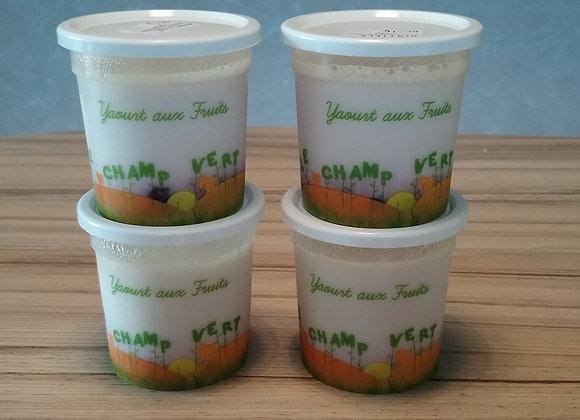yaourts à la confiture par 4