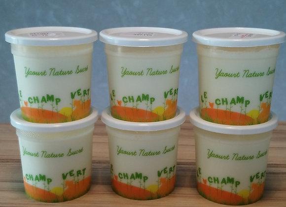 yaourt nature sucré par 4