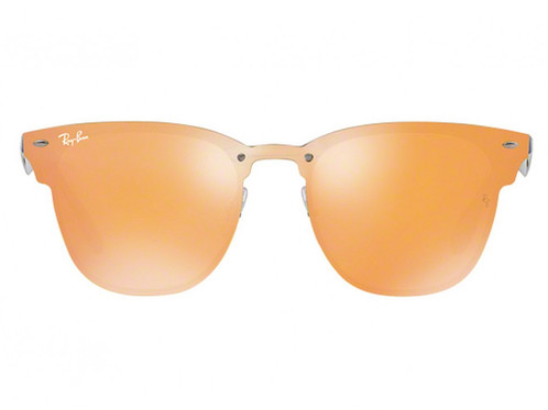 c7e30605ae Ray-Ban Blaze Clubmaster RB 3576N 9037 7J Blue Orange Mirror