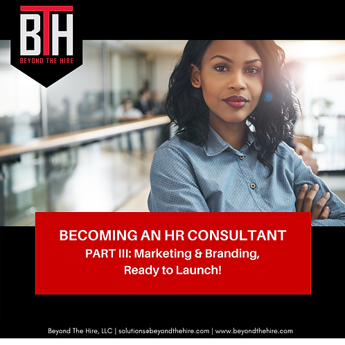 Part III | Becoming an HR Consultant
