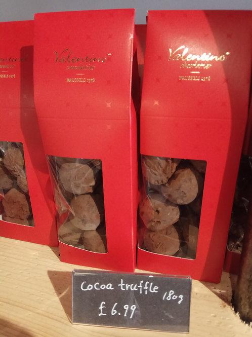 Valentino Belgian chocolate cocoa truffles 180g