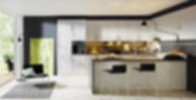 classic style kitchen with peninsula
