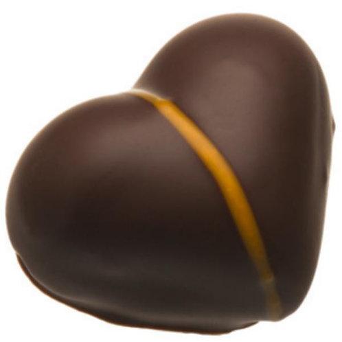 Heart Marzipan Dark Chocolate