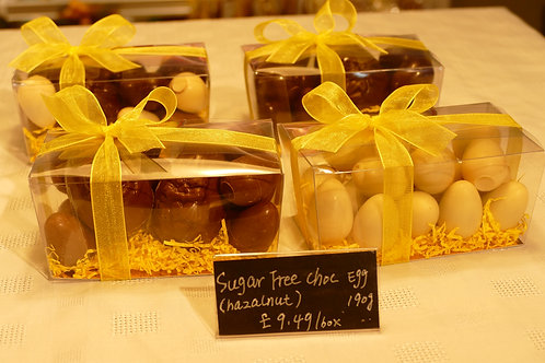 Assortment of sugar free hollow and filled eggs 190g