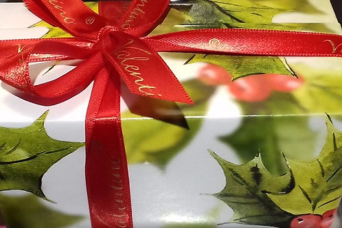 Christmas Holly wrapping for your box of chocolates