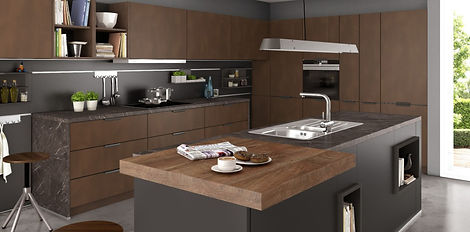 metal and grey kitchen