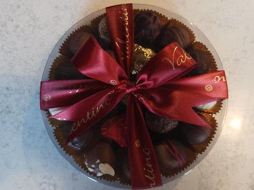 16cm Round box of Valentino chocolates