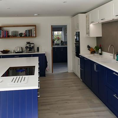 Open plan kitchen with Bora Hob