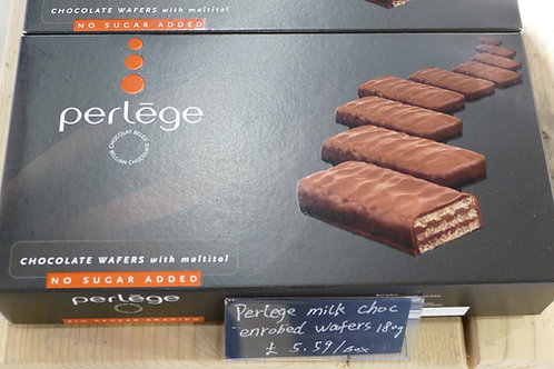 Perlege Sugar Free chocolate covered wafers 180g