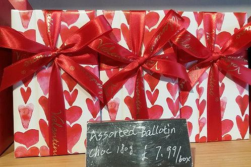 Assorted box of 180g Valentino Belgian chocolates