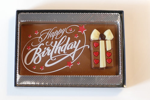 Happy Birthday tablet milk chocolate