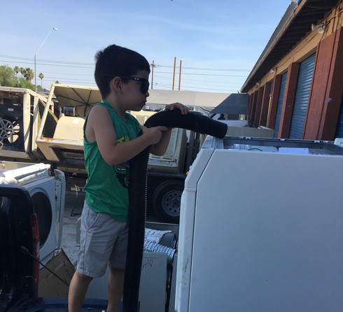 Dryer maintenance training. Kidding, must be at least 16 YO to work at Frontline.
