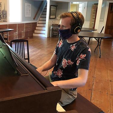 Kelvyn Recording the Piano Track