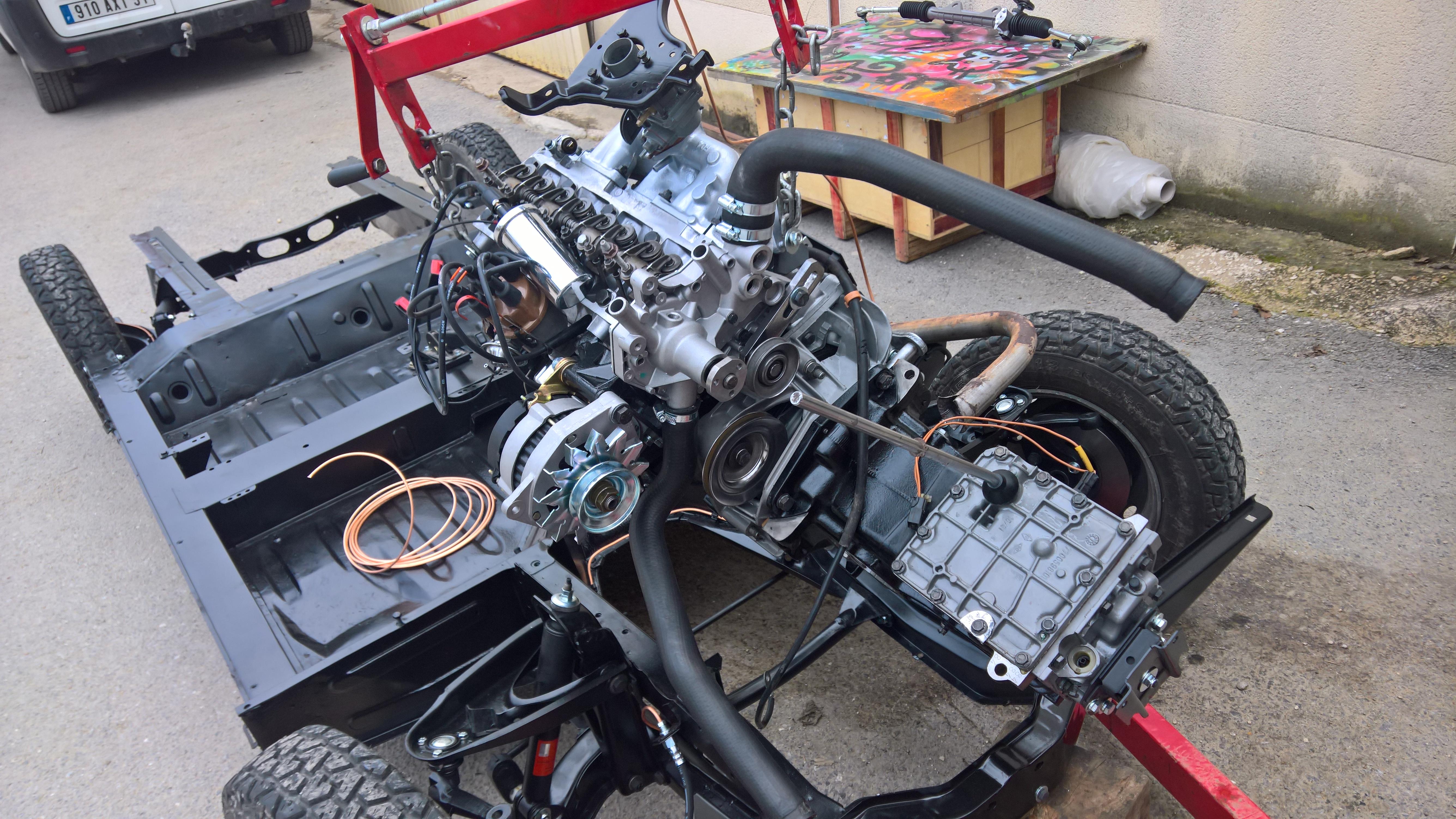 Moteur - Boite Renault 4L 956 cm 3 (135)