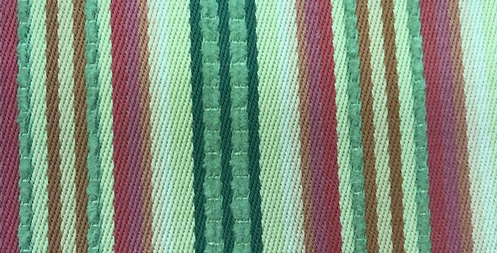 Pink, Green, and Yellow Textured Stripe