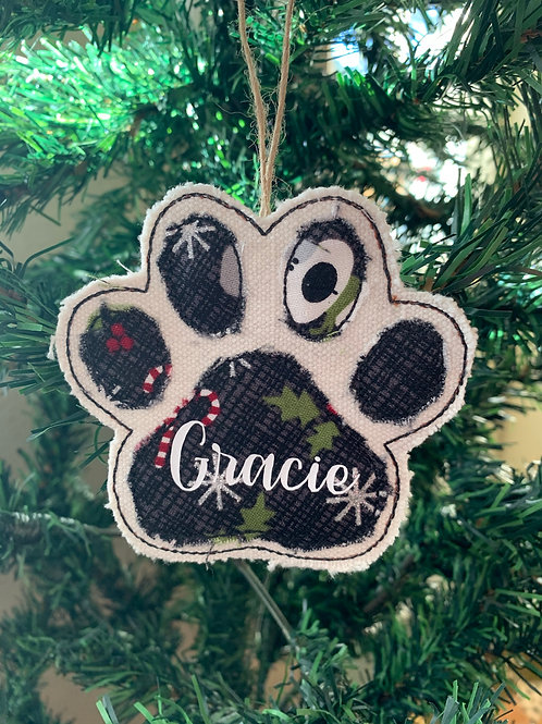 Paw Ornament with name