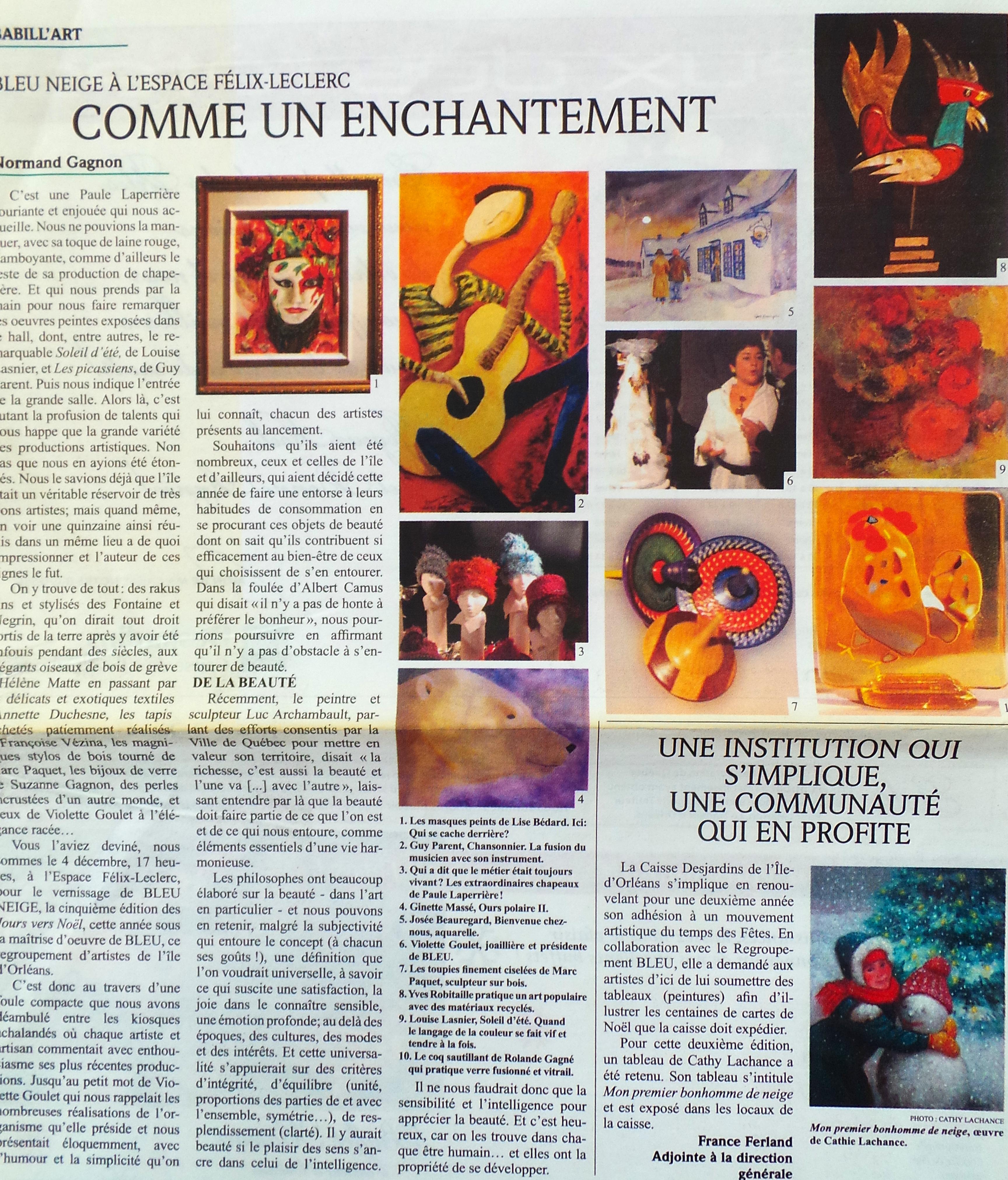 2009 Bleu Neige reportage
