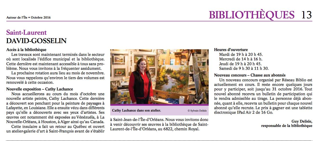 2016-Cathy Lachance expo biblio