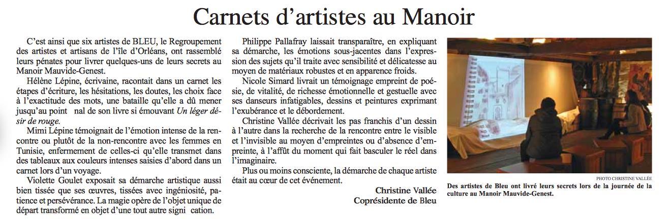 2012 septembre 007 Carnet d'artistes au Manoir