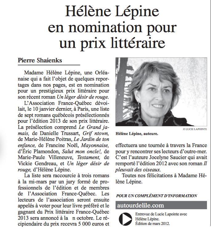 2013-Hélène Lépine livre