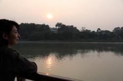 ガンジス河の夕日 (1)