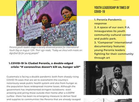 Fall 2020 Peronia Adolescente Solidarity Newsletter