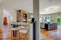 Project Meadow Place Contemporary - Breakfast Bar View 1