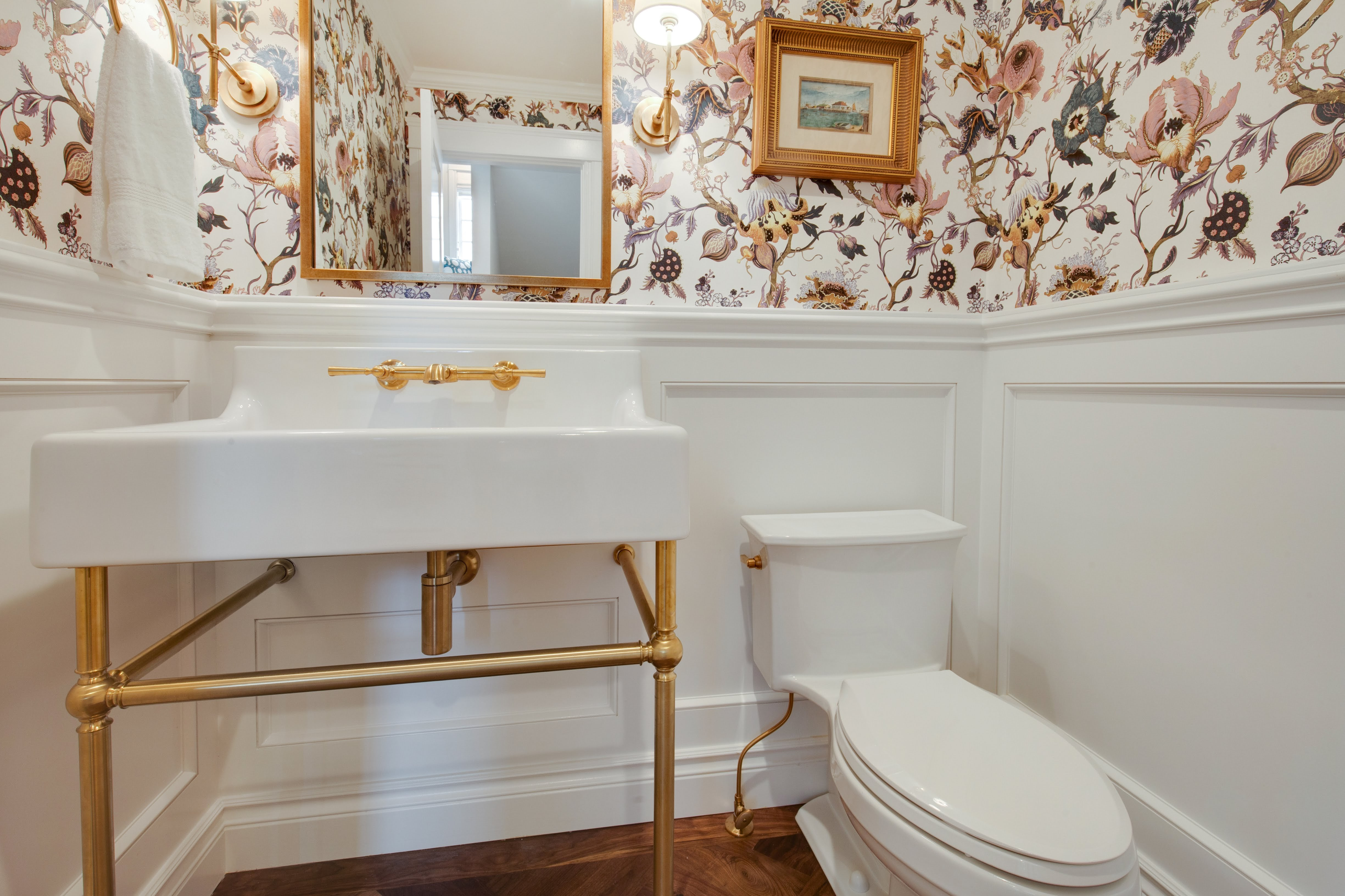 Project Holyoke Craftsman Powder Room