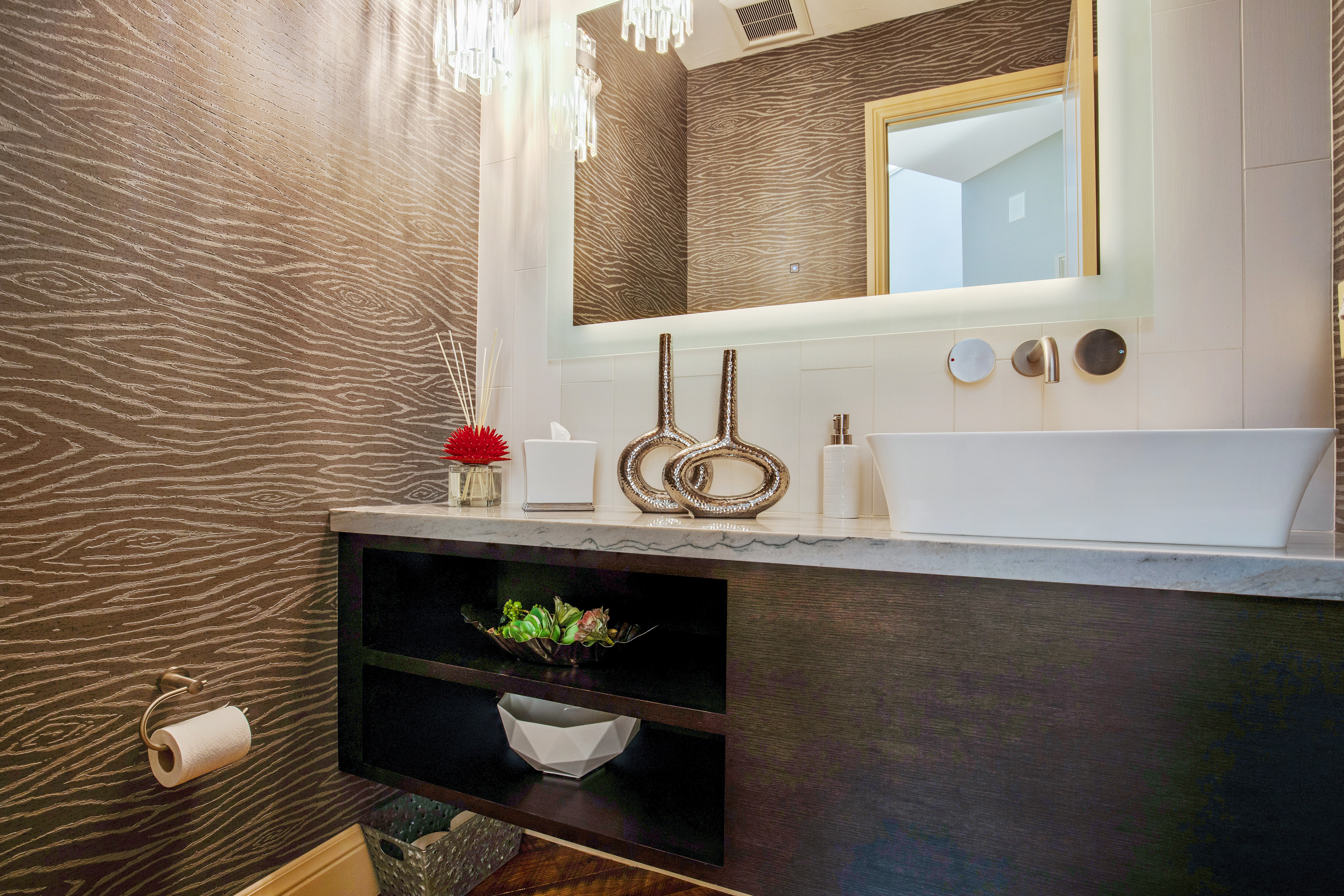 Project Meadow Place Contemporary - Powder Room View 1