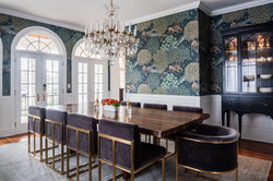 Project Gilbert St. Transitional Victorian - Dining Room View 1