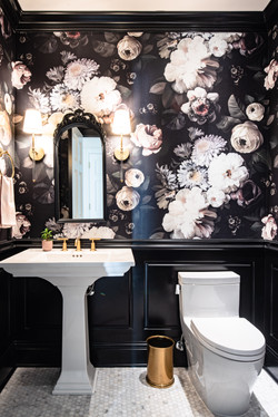 Project Gilbert St. Transitional Victorian - Powder Room View 1