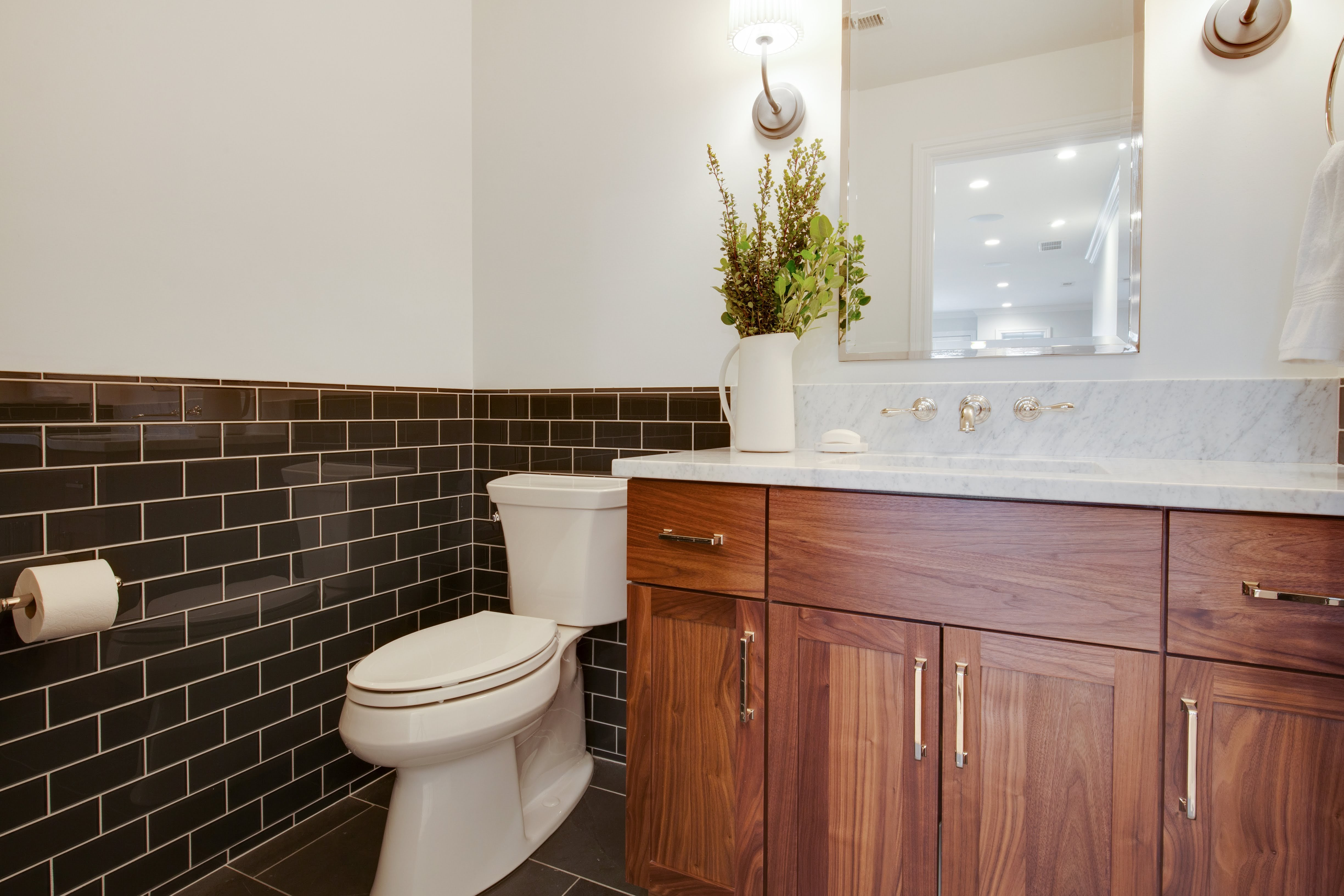 Project Holyoke Craftsman Basement Powder Room - View
