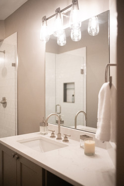 Project Meadow Place Contemporary - Basement Bathroom View 3