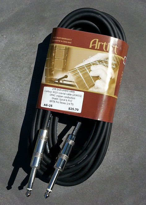 BRTB Artist AG-25, 1/4 inch instrument cable