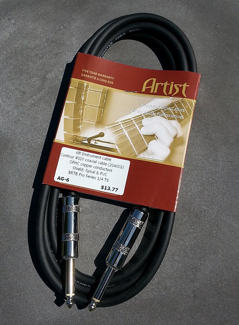 BRTB Artist AG-6, 1/4 inch instrument cable
