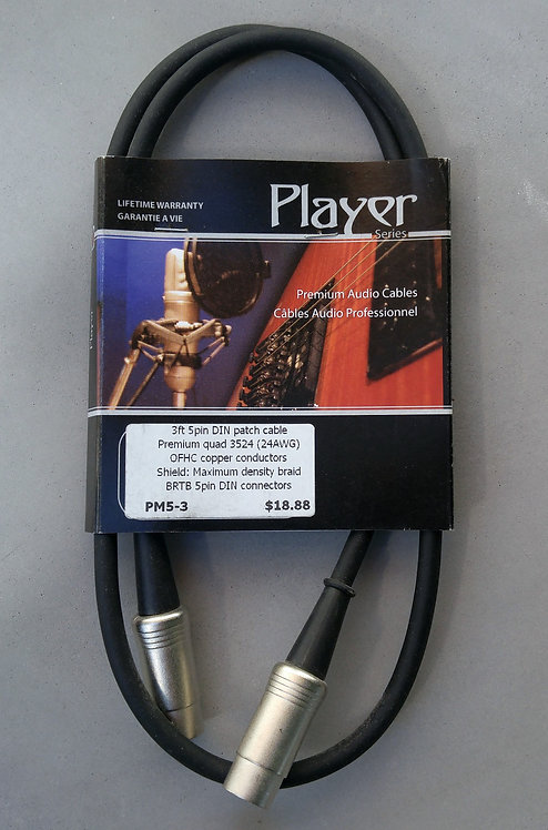 BRTB Player PM5-3 Midi cable