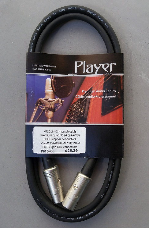 BRTB Player PM5-6 Midi cable