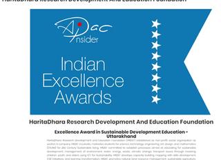 Excellence Award in Sustainable Development Education - Uttarakhand