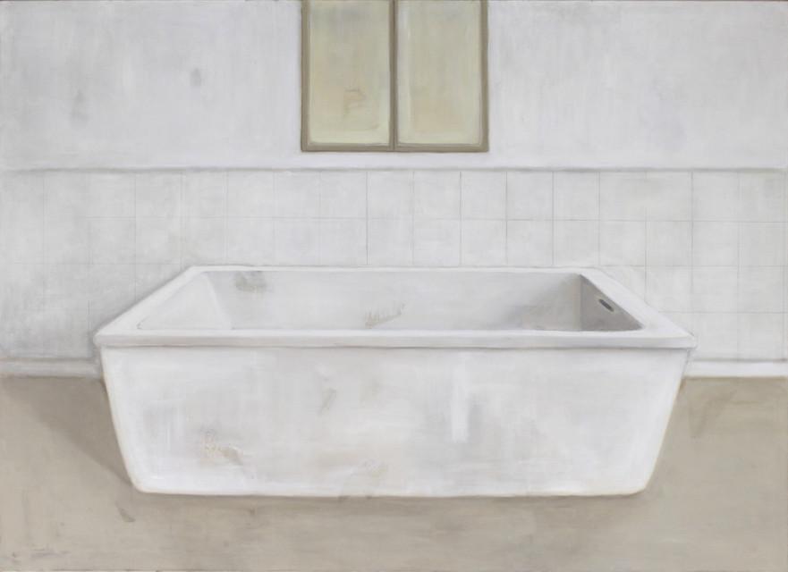 Baignoire, huile sur toile, 130x180cm, 2017