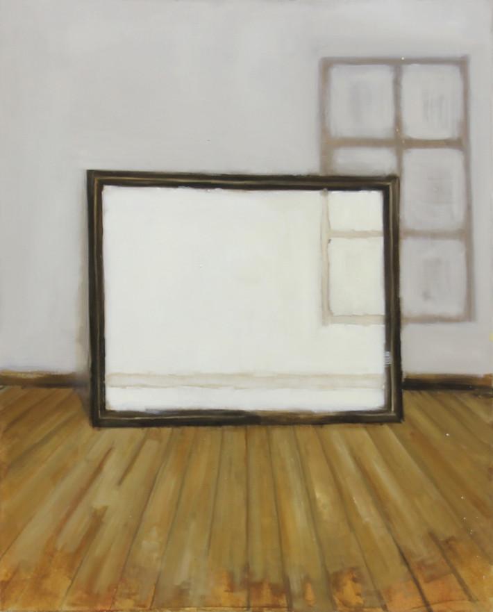Cadre et fenêtre, huile sur toile, 65x81cm, 2017