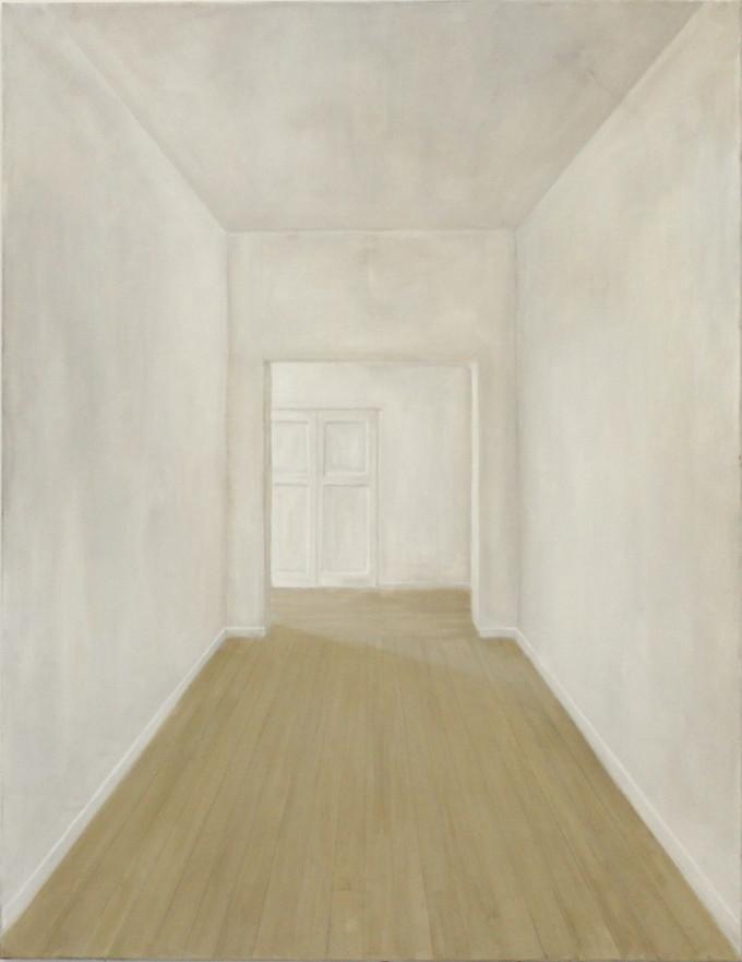 Couloir, huile sur toile, 100x130cm, 2017