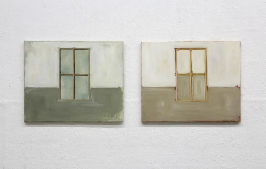 Fenêtres (diptyque), huile sur toile, 50x61cm(x2), 2017