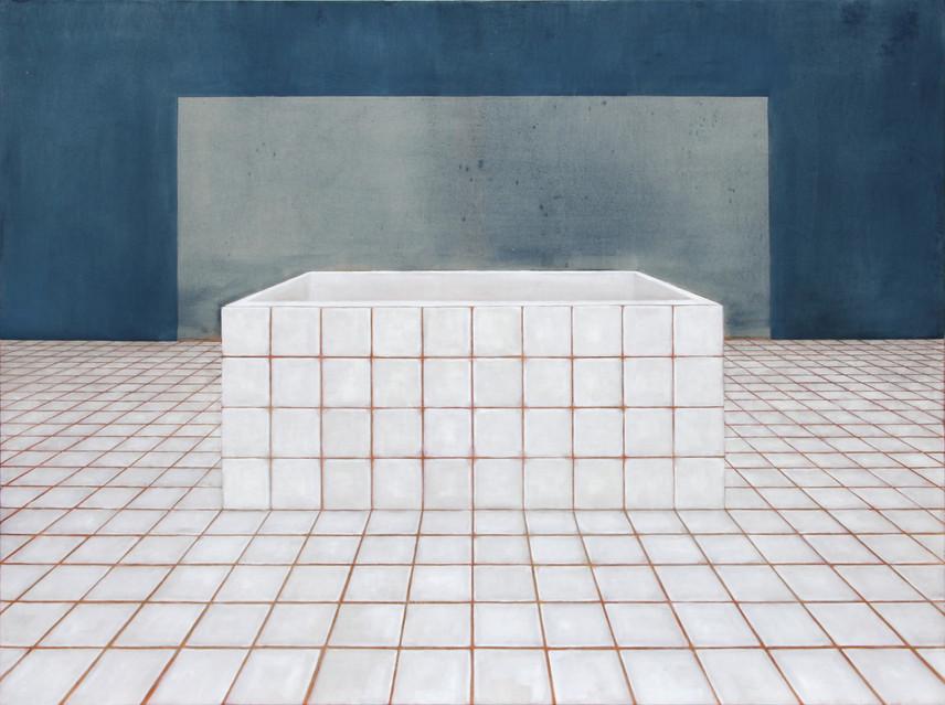 Bassin, huile sur toile, 120x160cm, 2018