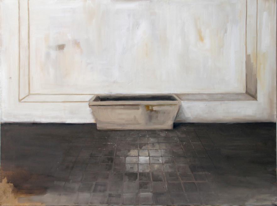 Bassin, huile sur toile, 100x140cm, 2017