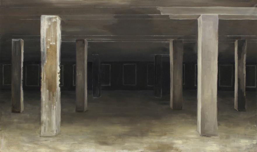 Piliers, huile sur toile, 97x162cm, 2017